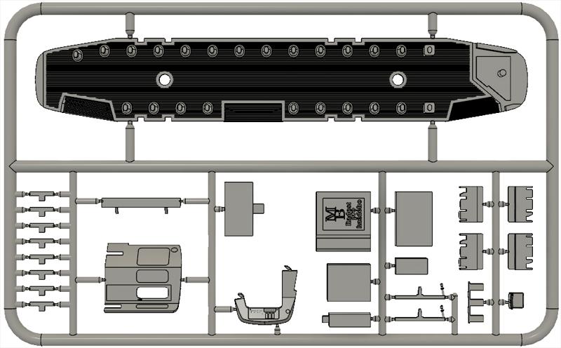 Výlisek podlaha, kabina pro tramvaje ČKD Tatra T3SUCS