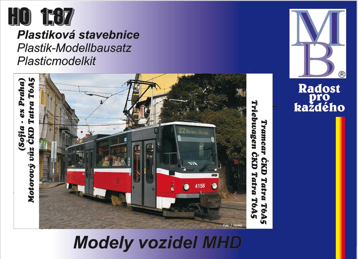 Stavebnice tramvaje ČKD Tatra T6A5