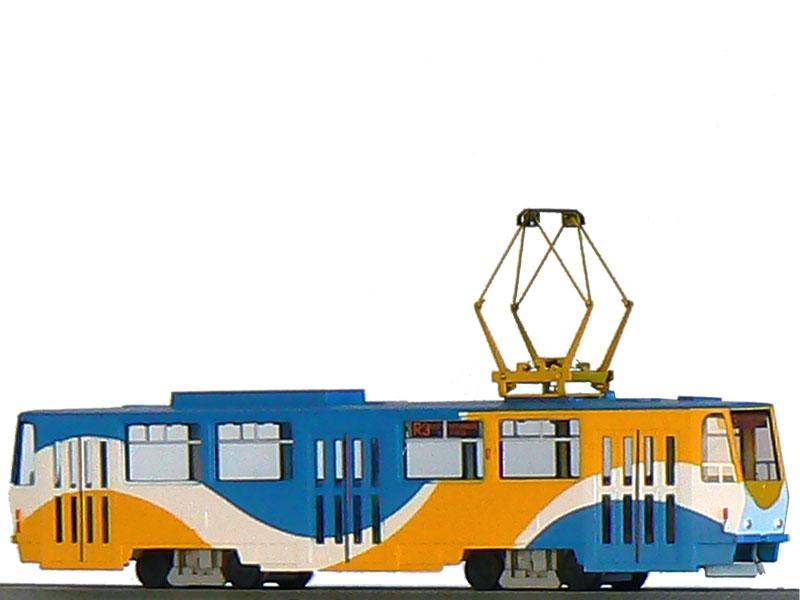 Tramvaj ČKD Tatra T6A5 s motorem