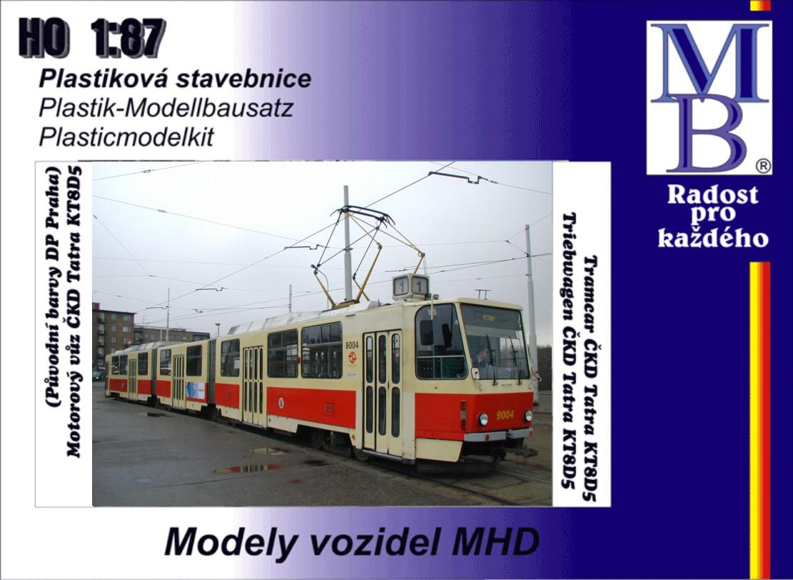 Stavebnice tramvaje ČKD Tatra KT8D5